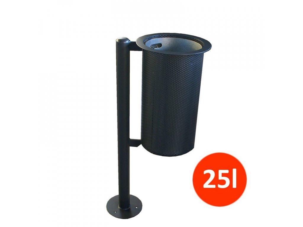 Venkovní odpadkový koš PF, 25 litrů