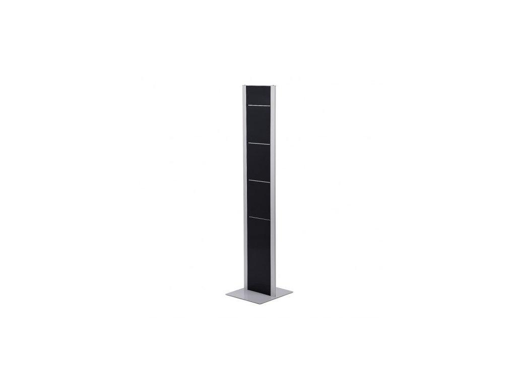 Designový oboustranný letákový stojan BRT, černo-stříbrný