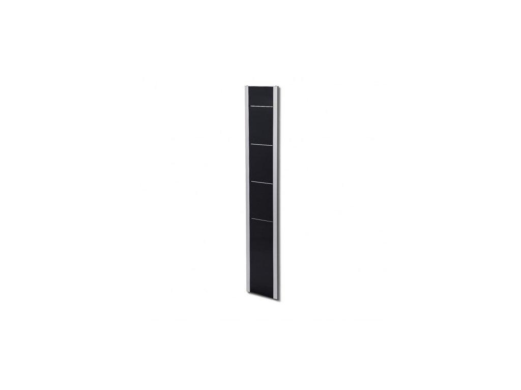 Designový letákový nástěnný stojan BRW, černo-stříbrný