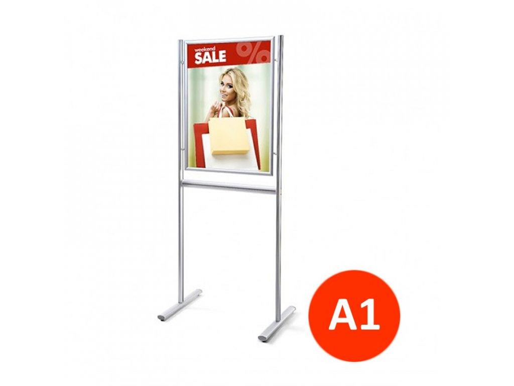 Stojan Info Board s klaprámem A1, jednostranný
