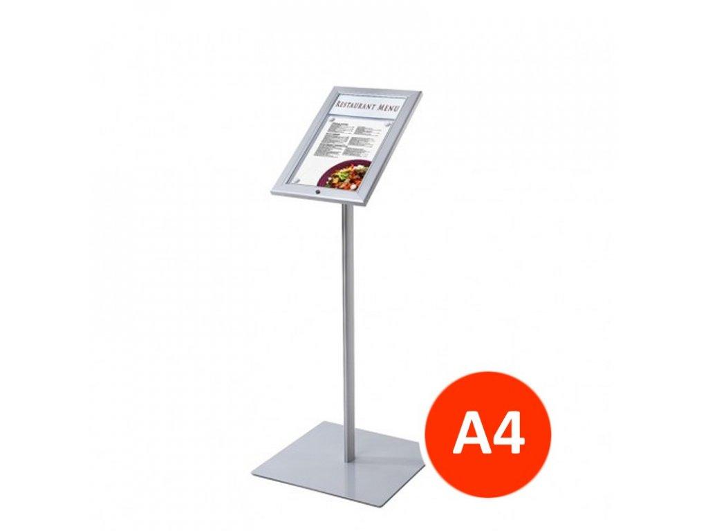 Venkovní menu stojan 1xA4, LED osvětlení