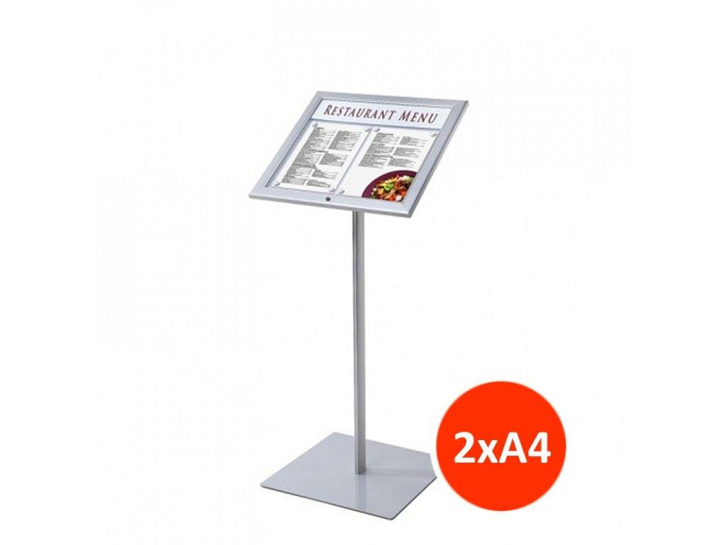 Venkovní menu stojan 2xA4, LED osvětlení