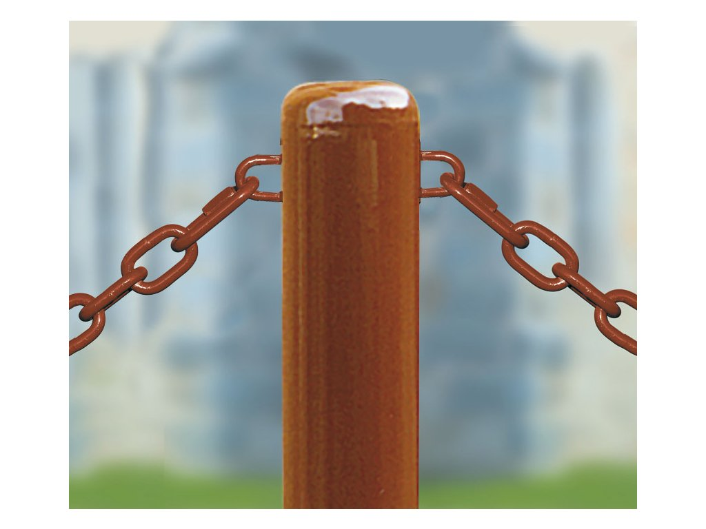 Zahrazovací ocelový sloupek se řetězy