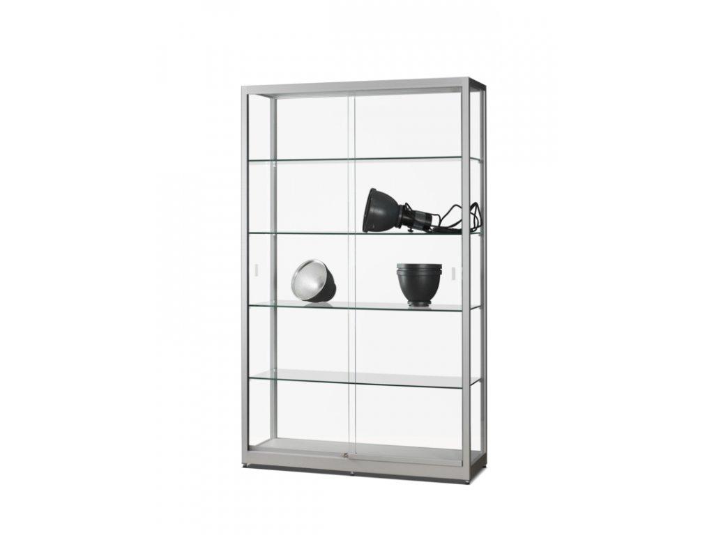 Skleněná vitrína 1200x1972x400 mm, bez osvětlení, posuvné dveře