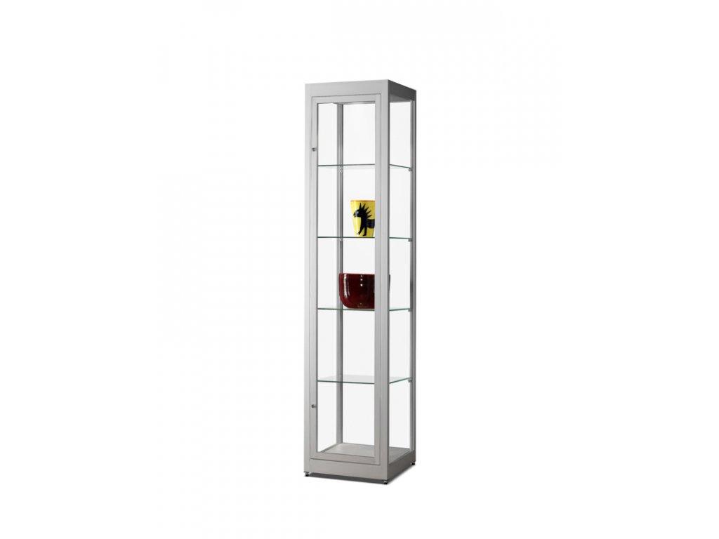 Prachotěsná skleněná vitrína 400x1972x400 mm, LED osvětlení