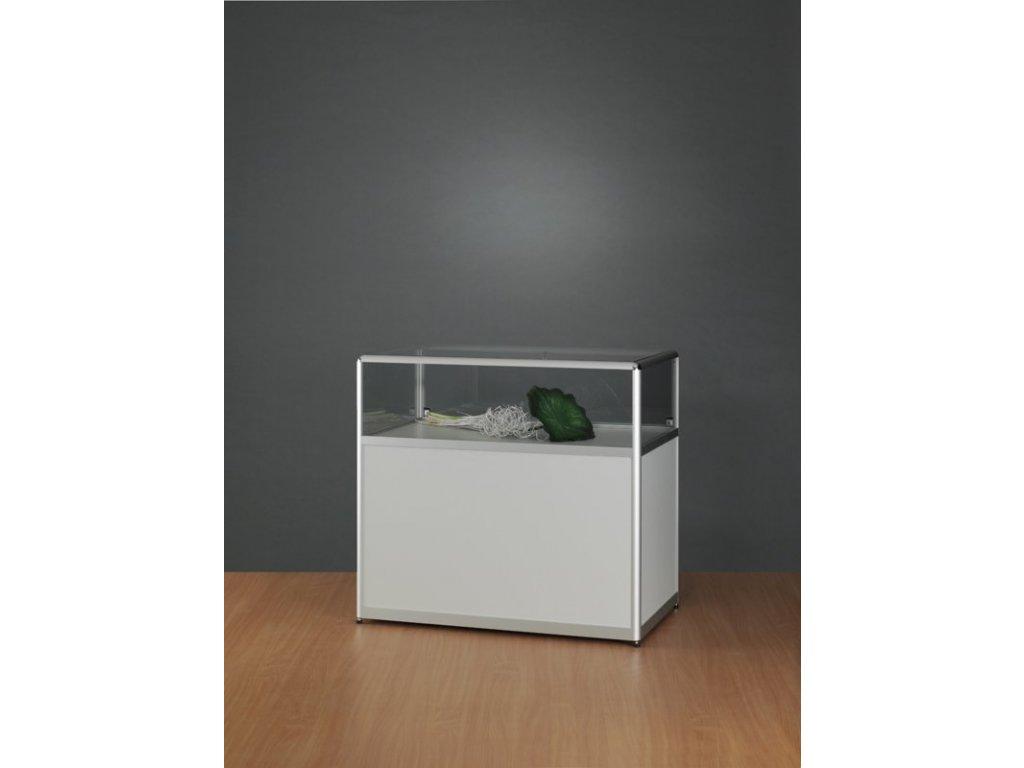 Pultová prosklená vitrína s úložným prostorem 1000x920x600 mm
