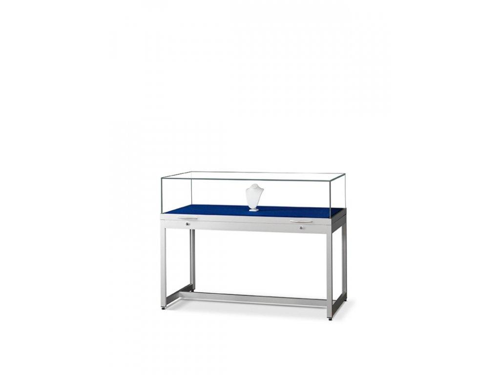Pultová vitrína s výklopným sklem 1200x920x600 mm
