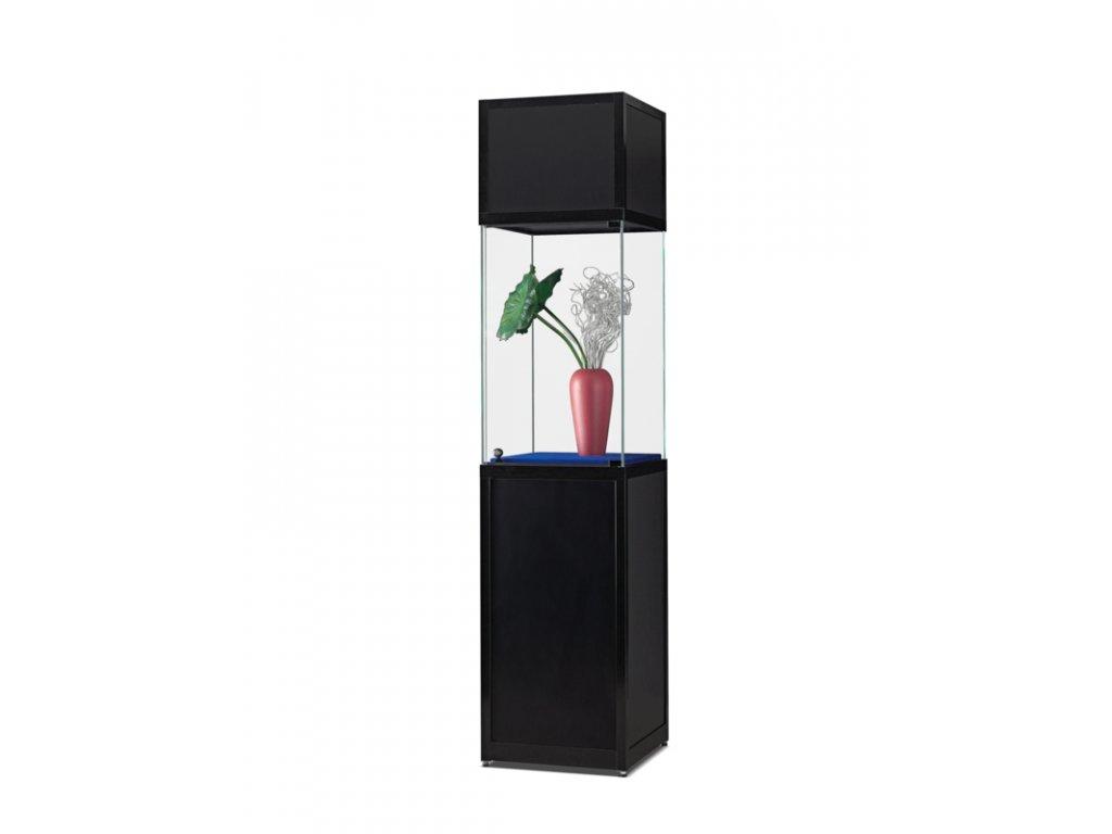 Exponátová vitrína s podstavcem a záhlavím, vyvýšená 508x2200x500 mm