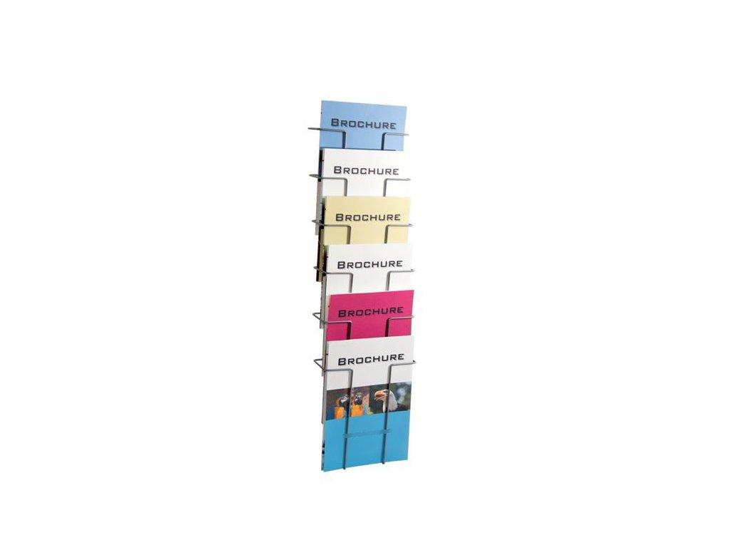 Drátěný nástěnný zásobník na prospekty, 6x A4