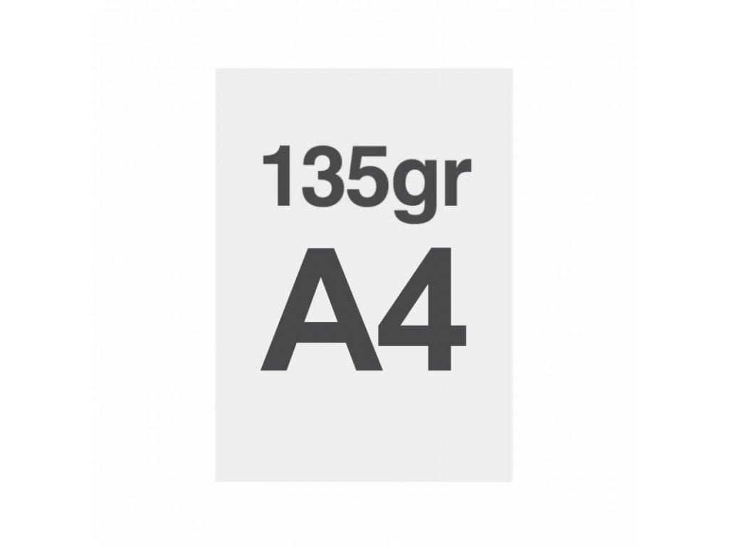 A4 tisk na prémiový papír 135g/m2, satinovaný povrch LPPA4S135