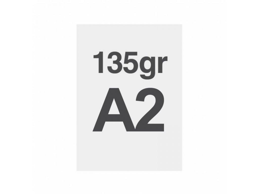 A2 tisk na prémiový papír 135g/m2, satinovaný povrch LPPA2S135