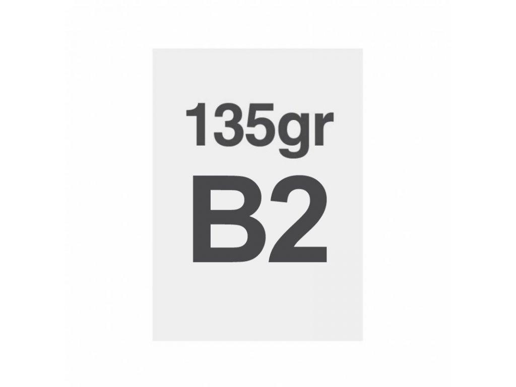 B2 tisk na prémiový papír 135g/m2, satinovaný povrch LPP50x70S135