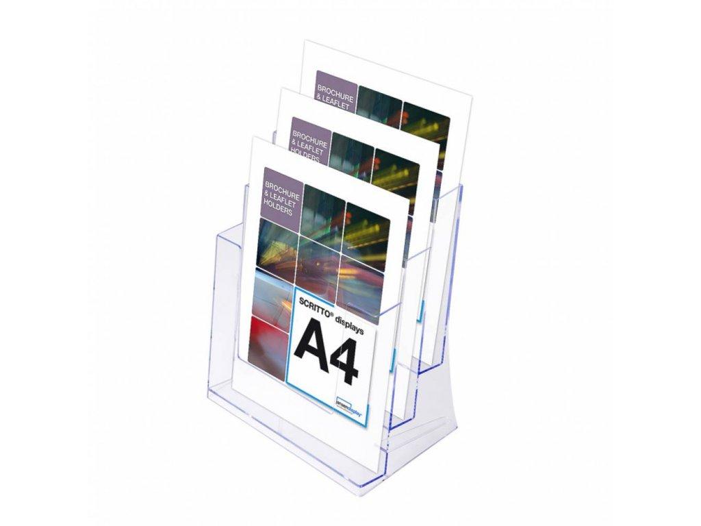 SCRITTO Stojánek na letáky formátu A4, 3 kapsy 3DA4P