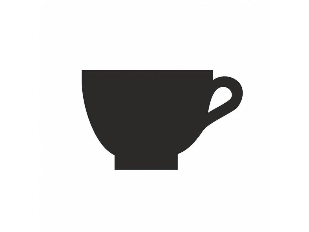 Deska HPL černá popisovatelná, Kavárna, 100mm FMPANEL5