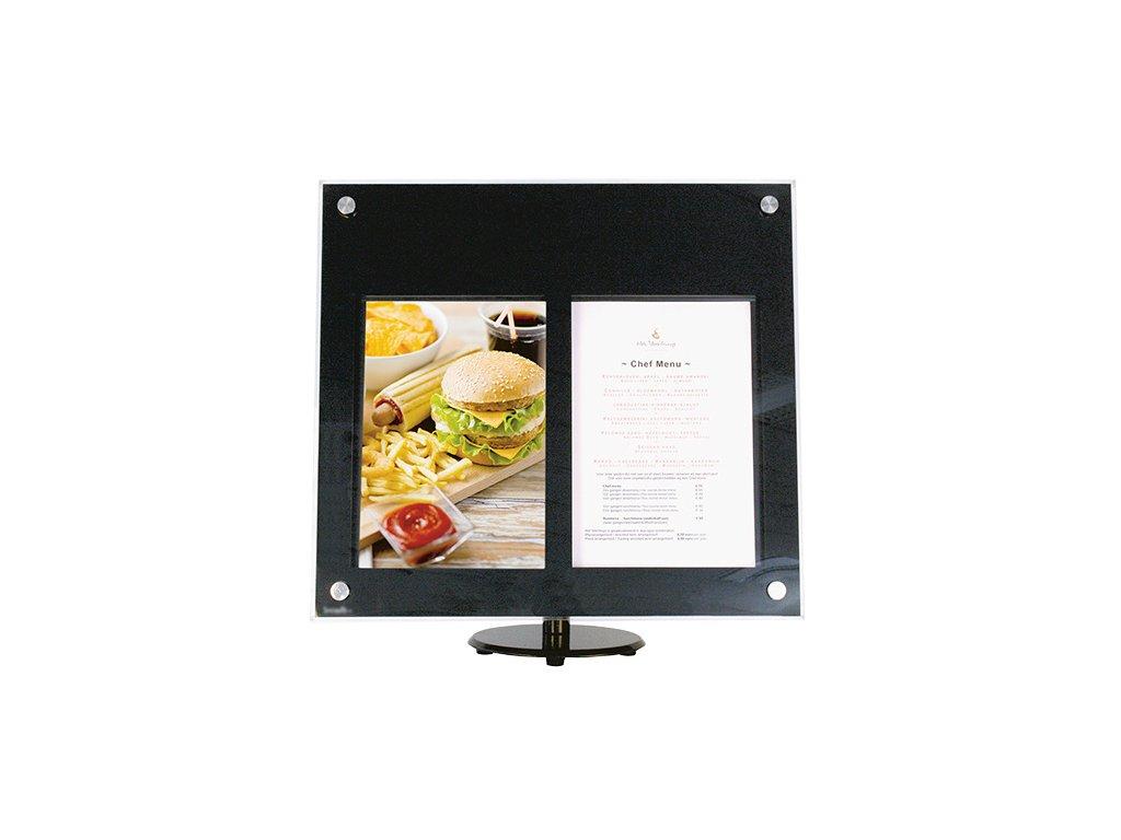 Akrylátová menu LED vitrína, 2xA4 MCS-2A4-PA