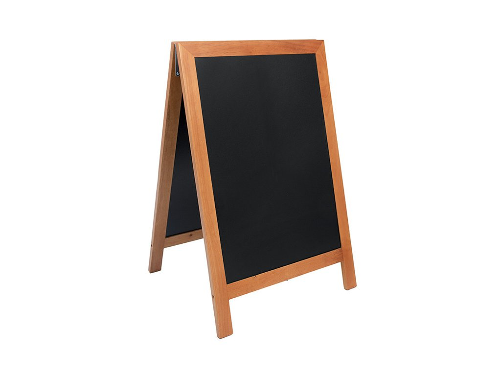 Reklamní poutač Premium 85x55 cm, tvrdé dřevo (Barva přírodní)