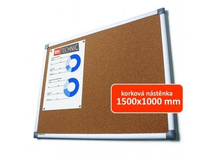 Korková nástěnka 1500x1000 mm