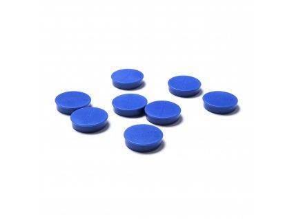 Sada magnetek, modrá barva, průměr 20 mm