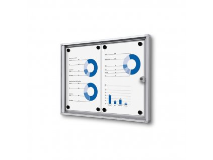 SCXS2xA4 - Interiérová vitrína Economy 2xA4 - plechová záda