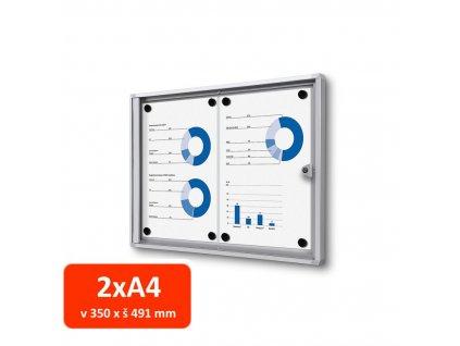 Vitrína XS interiérová 2xA4