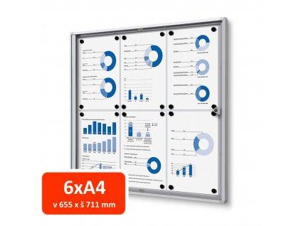 Vitrína XS interiérová 6xA4