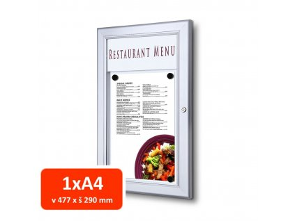 Venkovní menu vitrína SC Z 1xA4
