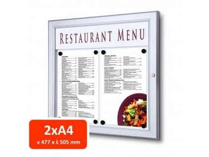 Venkovní menu vitrína SC Z 2xA4