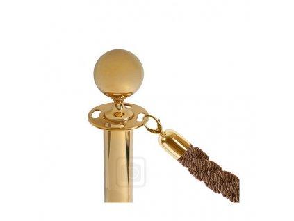 Provaz se zlacenými háky, bronzový