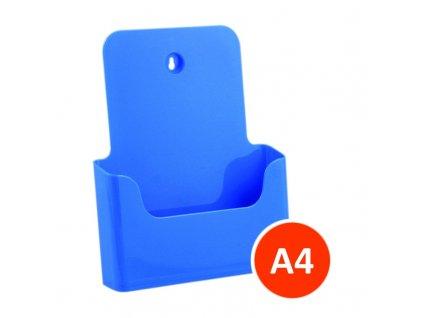 Stolní stojánek na letáky A4, modrý
