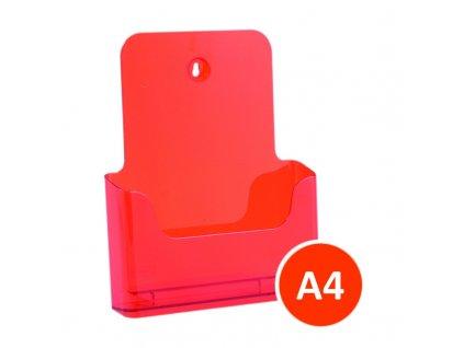 Stolní stojánek na letáky A4, tónovaný oranžový