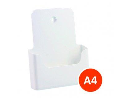 Stolní stojánek na letáky A4, bílý