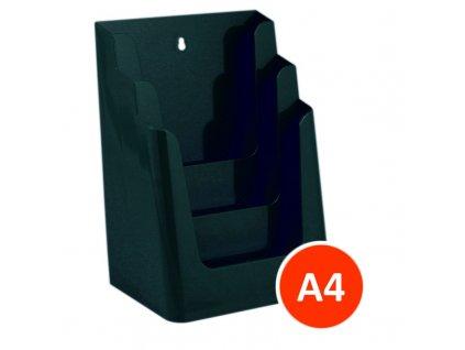 Stolní stojánek na letáky 3xA4, zelený, balení 8ks