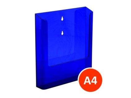Nástěnný zásobník na letáky A4, tónovaný fialový, balení 15ks