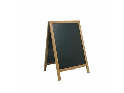 Dřevěný poutač Premium, 55x85 cm, teak