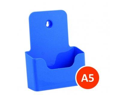 Stolní stojánek na letáky A5, modrý