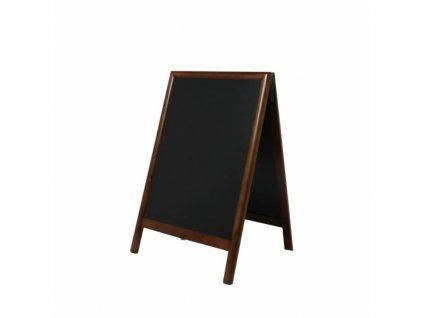 Dřevěný poutač Premium, 55x85 cm, tmavě hnědý