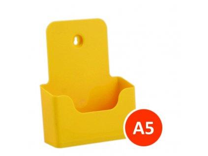 Stolní stojánek na letáky A5, žlutý