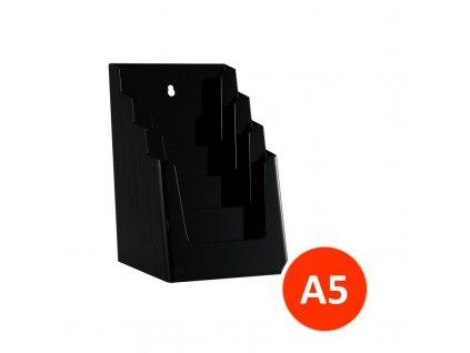 Stolní stojánek na letáky 4xA5, černý