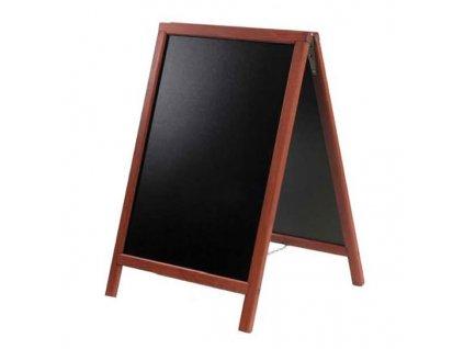 Dřevěný poutač Premium, 55x85 cm, mahagon