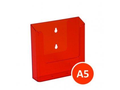 Nástěnný zásobník na letáky A5, tónovaný oranžový