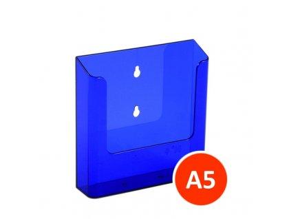 Nástěnný zásobník na letáky A5, tónovaný fialový