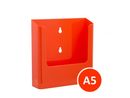 Nástěnný zásobník na letáky A5, oranžový