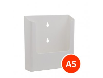 Nástěnný zásobník na letáky A5, bílý, balení 22ks