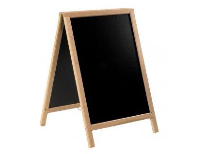 Dřevěný poutač Premium, 55x85 cm, přírodní