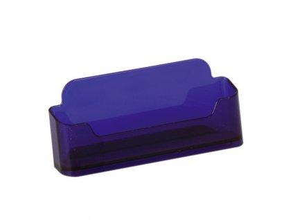 Stolní stojánek na vizitky, jednoduchý - tónovaný fialový