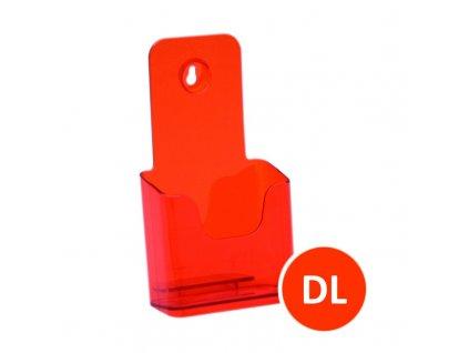 Stolní stojánek na letáky DL, tónovaný oranžový