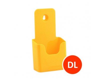 Stolní stojánek na letáky DL, žlutý