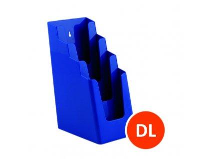 Stolní stojánek na letáky 4xDL, modrý, balení 16ks