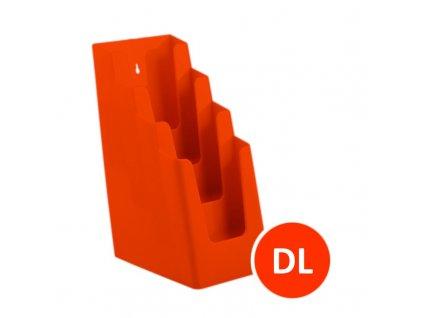 Stolní stojánek na letáky 4xDL, oranžový
