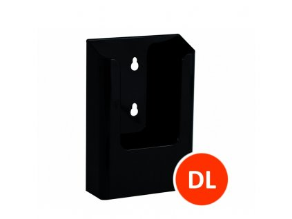 Nástěnný zásobník na letáky DL, černý